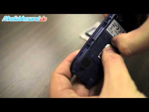 Nokia 1616 SIM-Karte und Akku einsetzen Handy Telefon Mobile