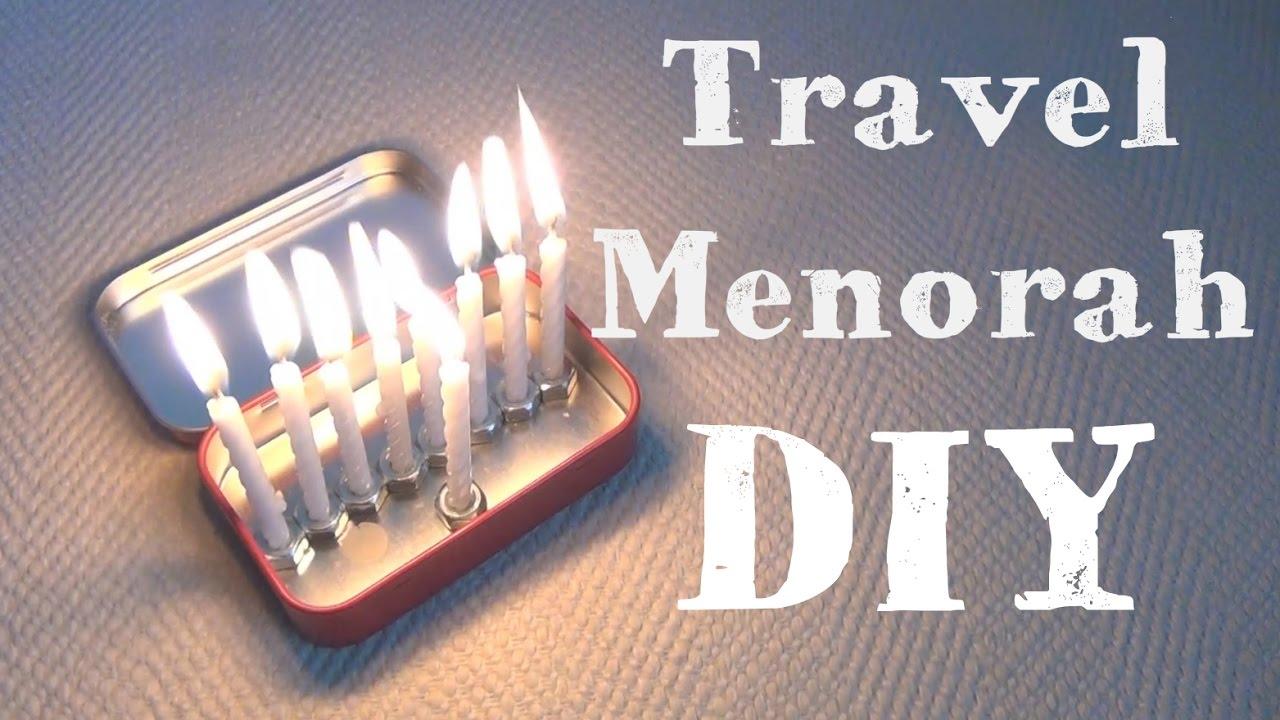 travel menorah 8 diys of hanukkah