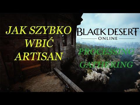 Black Desert Online Jak szybko wbić Artisan Processing & Gathering