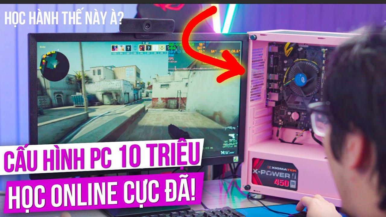 Lắp Ráp Dàn Máy Tính 10 Triệu CHUYÊN HỌC ONLINE - Kèm Màn Hình, Mua Về Là Dùng | TNC Gaming PC Alpha
