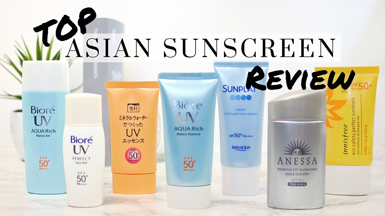Top Asian Sunscreen Review Anese Korean Sunscreens Lookmazing You
