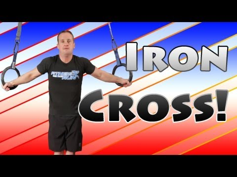 Iron Cross Training On The Rings
