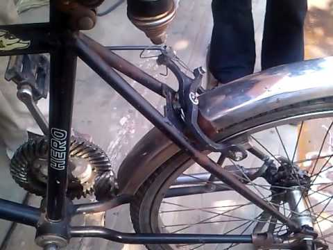 Chainless Bicycle Shaft Driven Mechanical Project Youtube