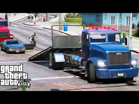 ANOTHER DAY AT WORK #5 | GTA 5 REAL LIFE MOD REPO JOB WITH FLAT BED | THEY TRIED TO FIGHT ME