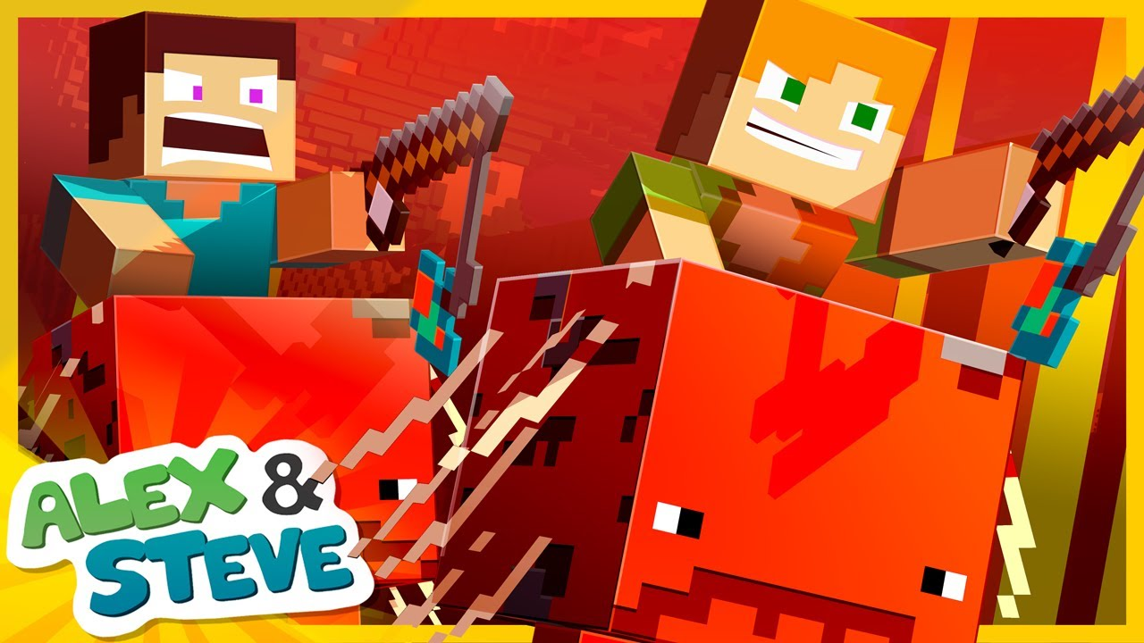 NETHER RACE Noob vs. Pro! Minecraft Animation | The Minecraft Life of Alex and Steve