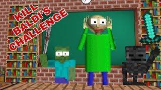 Monster School: KILL BALDI'S CHALLENGE-MINECRAFT ANIMATION thumbnail