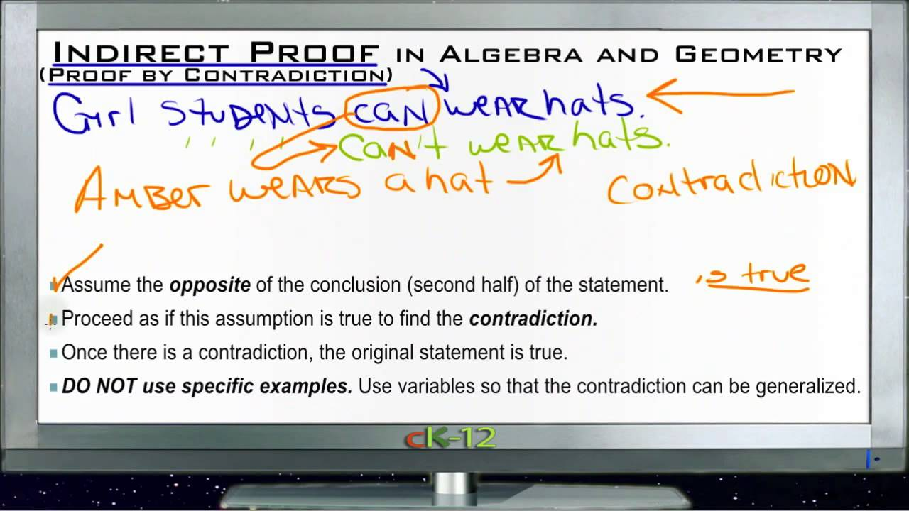 Indirect Proofs in Algebra and Geometry Lesson Basic Geometry – Indirect Proof Worksheet