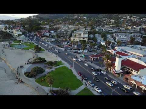 DJI Mavic Pro Drone flight Laguna Beach California 2017