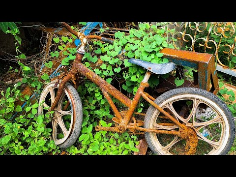 Very Old Rusted Bicycle Full Restoration thumbnail