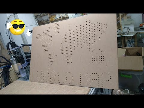 cnc work 820 hole drilling world map
