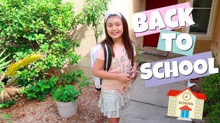 BACK TO SCHOOL VLOG | OUR FiRST DAY OF SCHOOL 2018 | 8TH AND 3RD GRADE