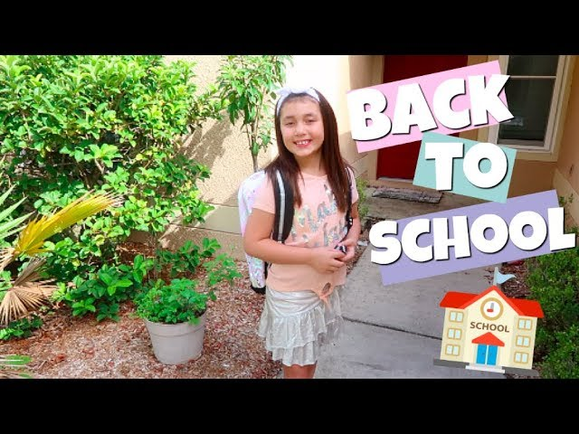 Back To School Vlog Our First Day Of School 2018 8Th And 3Rd Grade