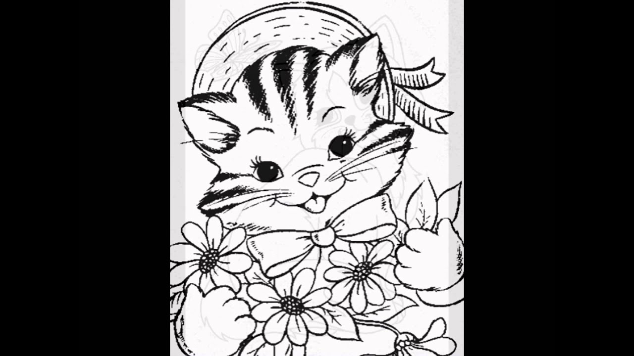kitten coloring pages by http cool findz com youtube