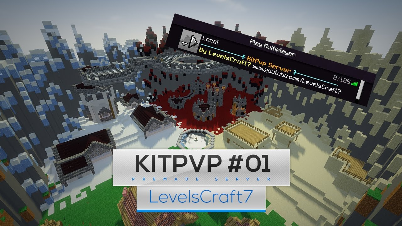 Minecraft: modded kit pvp server map w/download (xbox 360/one/ps3.