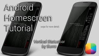Vertical Statusbar (by Burro) - Android Homescreen Tutorial