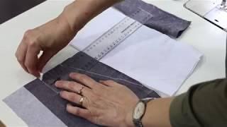 Обработка карман в брюках, технология пошива брюк