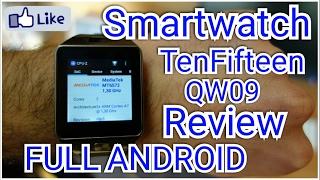 Smartwatch TenFifteen QW09 Full Android REVIEW - Parece Um DZ09 com Android !! Análise em PORTUGUES
