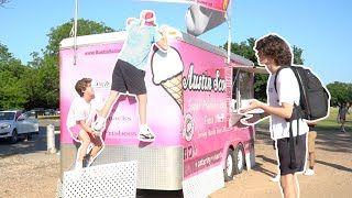 Sneaking on Top of an Ice Cream Truck!