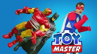Игры с супергероями - Железный Человек и Бэтмен против Джокера! - Видео шоу Тоймастер