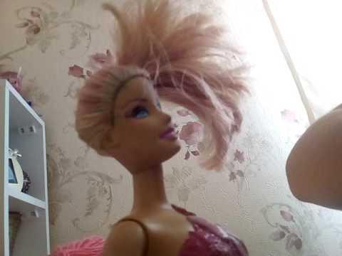 Barbie Saç Modeli Ve Boyaması Youtube