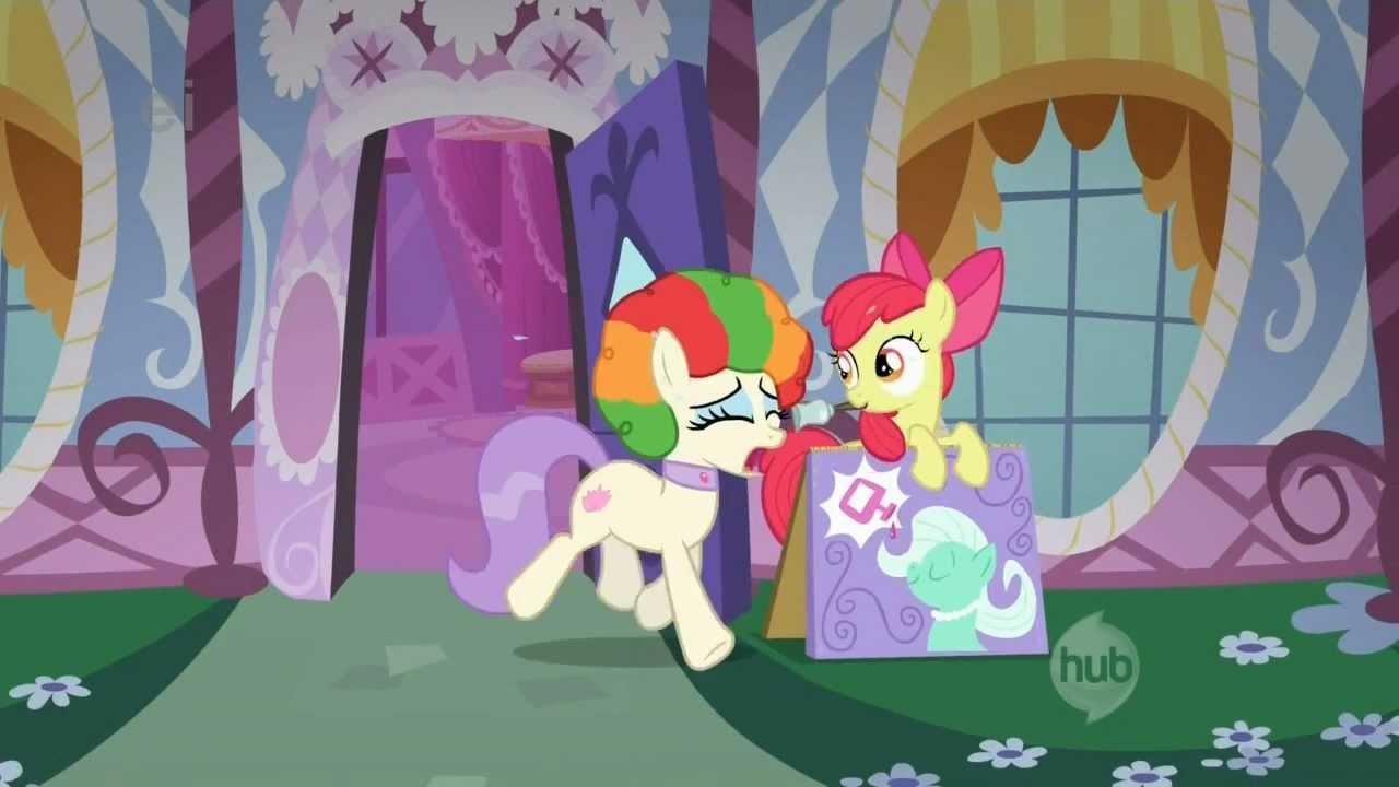 Colorful Afro Crying Pony