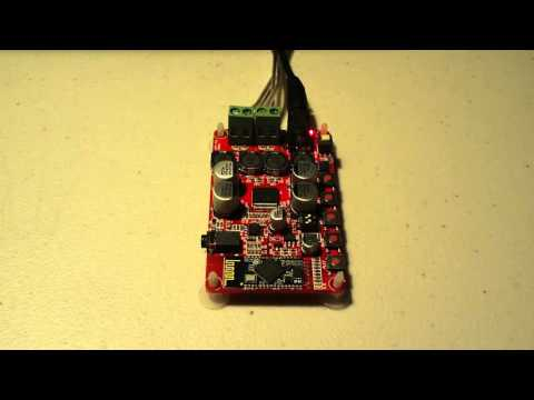 Demonstaration Of A Small TDA7492P Powered Bluetooth Amp From Ebay
