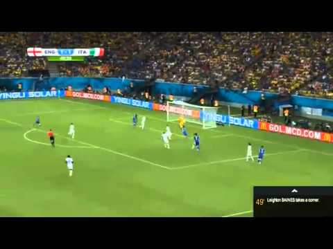 HEADER GOAL Mario Balotelli ~ Italy vs England 2 1 ~ World Cup 2014