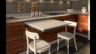 выдвижной стол на кухне - механизм COCKTAIL