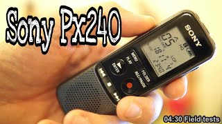 How to use Sony Voice Recorder and Field Test ( Sony Px240 )