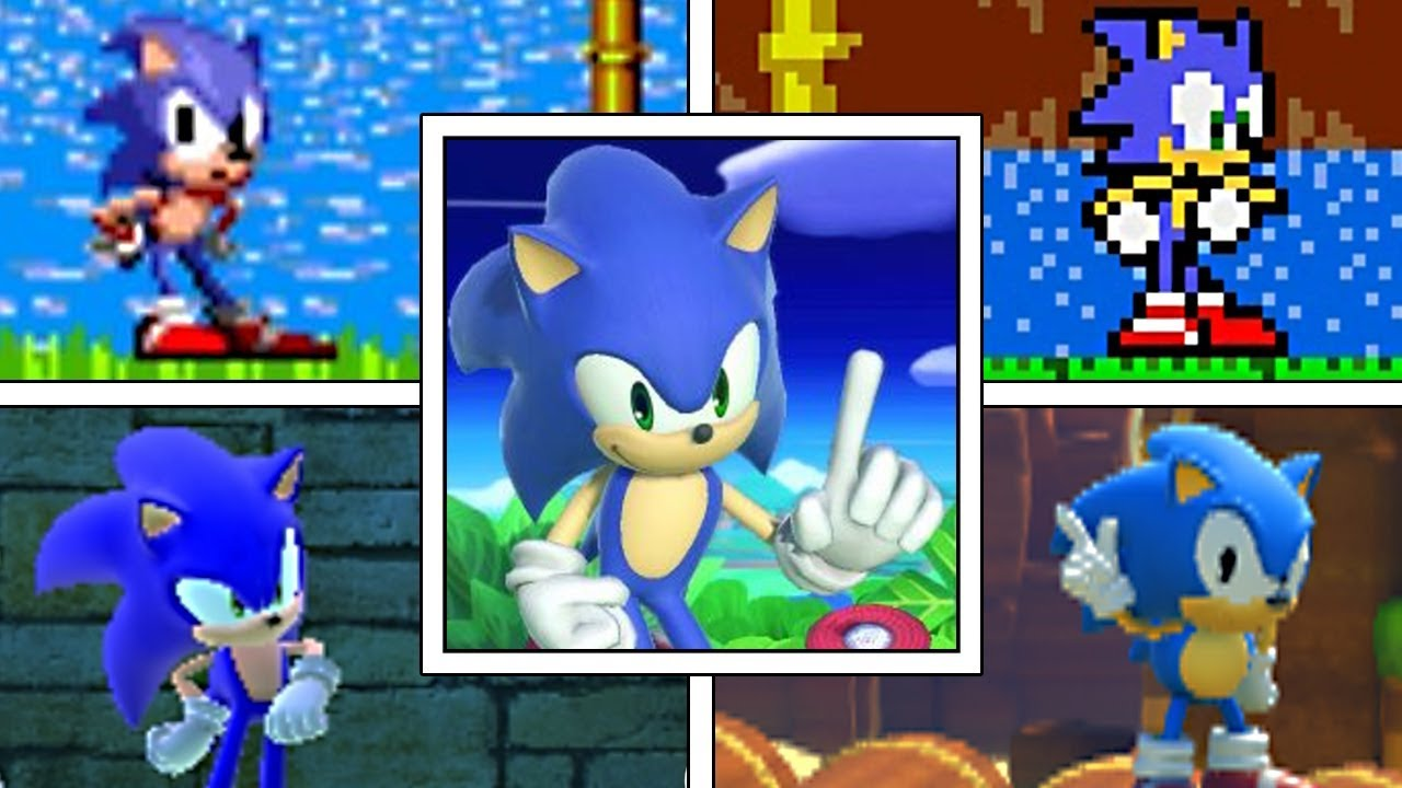 Evolution Of Sonic The Hedgehog Idle Animations 1991 2019 Genesis Ps2 Smash Ultimate More Youtube