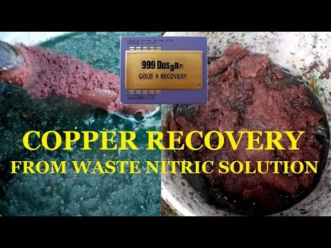 COPPER RECOVERY from waste Nitric solution!