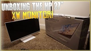 unboxing the hp xw 27 monitor   building a gaming setup