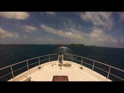Nordhavn 52 Dirona entering Palmyra Atoll