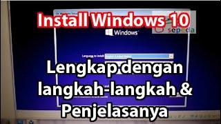 Gambar cover Cara Install Windows 10 Langkah dan penjelasanya