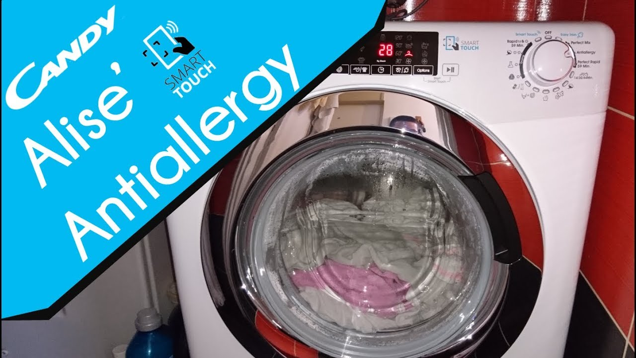 Candy Alise Gvsw 586 Twhc Antiallergy Washer Dryer Youtube
