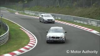 Шпионы опубликовали видео прототипа BMW 5-й серии на тестах(Шпионы выложили видео BMW 5-й серии при прохождении тестов., 2016-06-04T13:05:18.000Z)