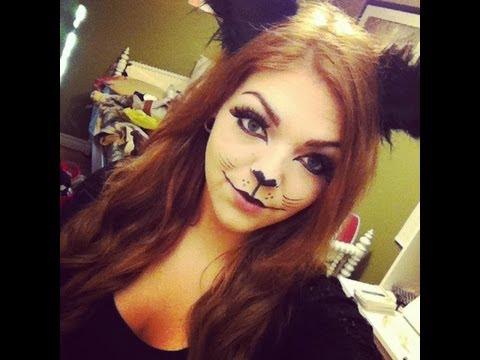 Black Cat Halloween Makeup Tutorial - YouTube
