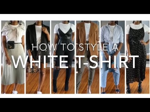 559d9de8615a How to Dress Up a White T Shirt - YouTube