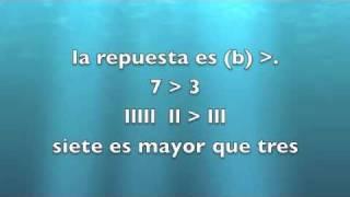 INEA o GED en español 7: Matemáticas: Comparar números practica: menor que y mayor que