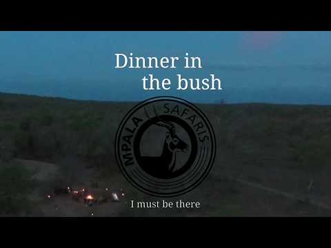 Romantic dinner in the bush in Karen Blixen style