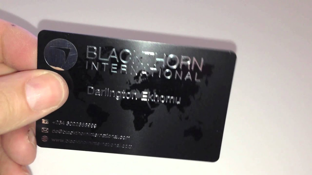 A Satin Black Plastic Business Card - YouTube