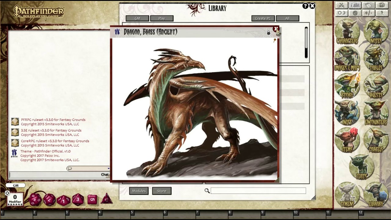 Pathfinder RPG - Bestiary 1 Pack for Fantasy Grounds