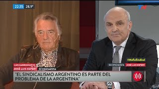 """José Luis Espert: """"Tómese un tecito que lo calme si yo aparezco mucho por la tele"""", a Barrionuevo"""