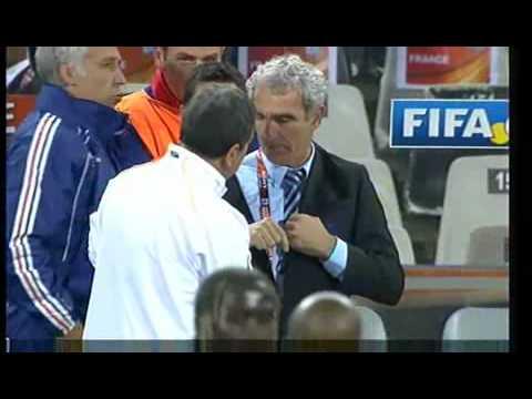 Domenech refuses to shake hands