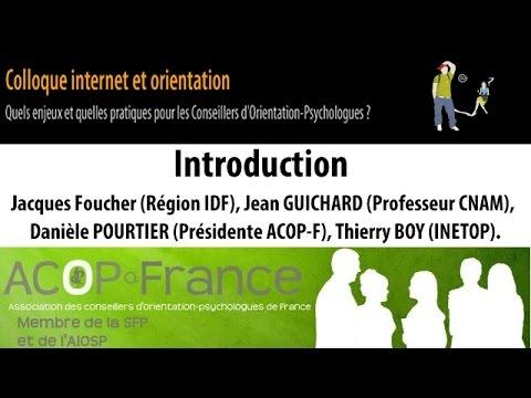 """Ouverture du colloque """"Conseil et orientation sur Internet"""""""