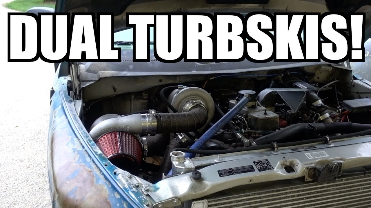 12V CUMMINS SOUNDS LIKE A JET TAKING OFF!!! FAB YOUR OWN COMPOUND  TURBSKIS!!!