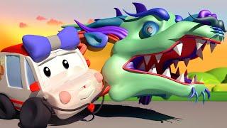 Die winzige Stadt -  Der Drache des chinesischen Neujahrs - Lehrreiche Cartoons für Kinder 👶 🚚