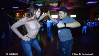 WANDAISHA LOPEZ & DJ EMERZIVE Bachata Social Dance At THE SALSA ROOM