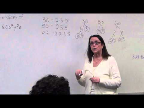 Finding the Greatest Common Factor (GCF) of a Polynomial