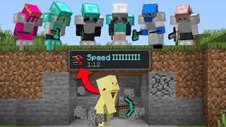 Minecraft Manhunt But Every Block I Break Increases My Speed